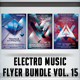 Electro Music Flyer Bundle Vol.15  - GraphicRiver Item for Sale
