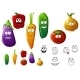 Vegetable Cartoons - GraphicRiver Item for Sale