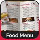 Bi-Fold A4 Food Menu Template - GraphicRiver Item for Sale
