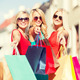 beautiful women with shopping bags in the ctiy - PhotoDune Item for Sale