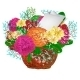 Bouquet of Bright Flowers - GraphicRiver Item for Sale