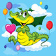 Dragon Flying with Balloon - GraphicRiver Item for Sale