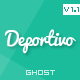 Deportivo - a blog wall for Ghost - ThemeForest Item for Sale