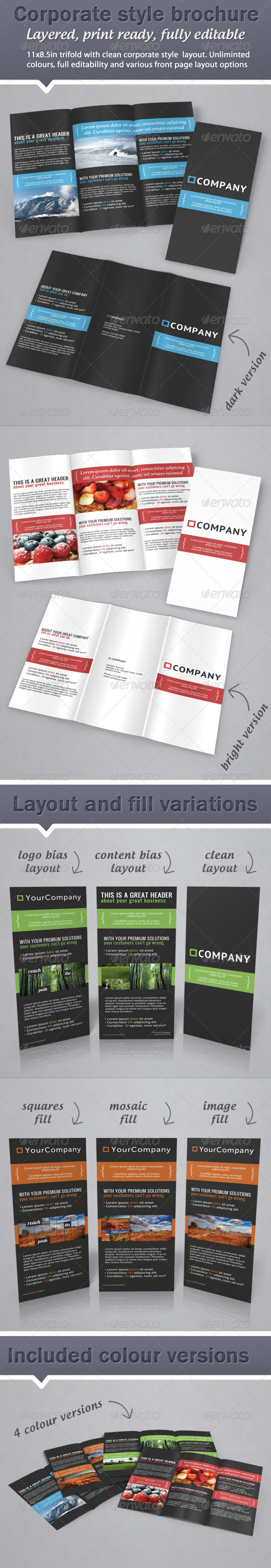 Graphic River Corporate Business Style Trifold Brochure  Print Templates -  Brochures  Corporate 775419