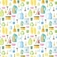 Cleaning Icon Seamless Pattern - GraphicRiver Item for Sale