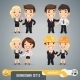 Businessmen Cartoon Characters Set1.3 - GraphicRiver Item for Sale