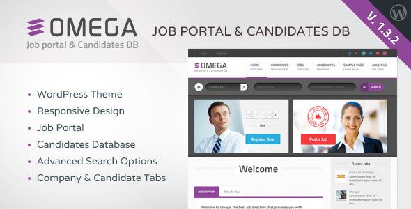 Omega - WordPress Job Portal & Candidate Database - Directory & Listings Corporate