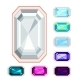 Rectangle Gemstone Set - GraphicRiver Item for Sale