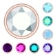 Circle Gemstone Set - GraphicRiver Item for Sale