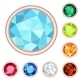 Gemstone Set - GraphicRiver Item for Sale