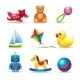 Baby Toys Icons Set - GraphicRiver Item for Sale