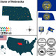 Map of State Nebraska, USA - GraphicRiver Item for Sale