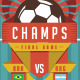 Soccer Poster in Flat Style - GraphicRiver Item for Sale
