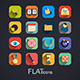 Modern Flat Icons Collection - GraphicRiver Item for Sale