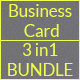 Creative Business Card - 3 in 1 Bundle