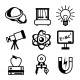 Physics Science Icons - GraphicRiver Item for Sale