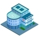 Hospital Building Isometric - GraphicRiver Item for Sale