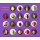 Fruits Icons Flat - GraphicRiver Item for Sale