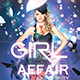 GIRL Affair party flyer