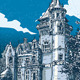Vintage Hand Drawn View of Old Castle in Belgium - GraphicRiver Item for Sale