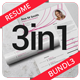 3in1 Simple Resume/CV Bundle - GraphicRiver Item for Sale
