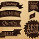 Set of Ribbons and Labels Wood - GraphicRiver Item for Sale