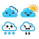 Cloud Manga Icons Set - GraphicRiver Item for Sale
