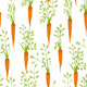 Carrots Freehand Drawing Seamless Pattern - GraphicRiver Item for Sale