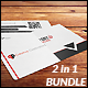 Creative Business Card - 2 in 1 Bundle