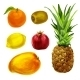 Tropical Organic Fruits Collection - GraphicRiver Item for Sale