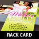 Mother's Dinner Show Rack Card Template - GraphicRiver Item for Sale
