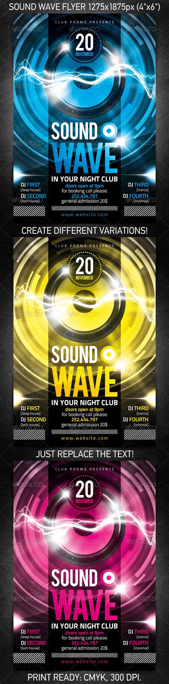 GraphicRiver Sound Wave Party Flyer 779012