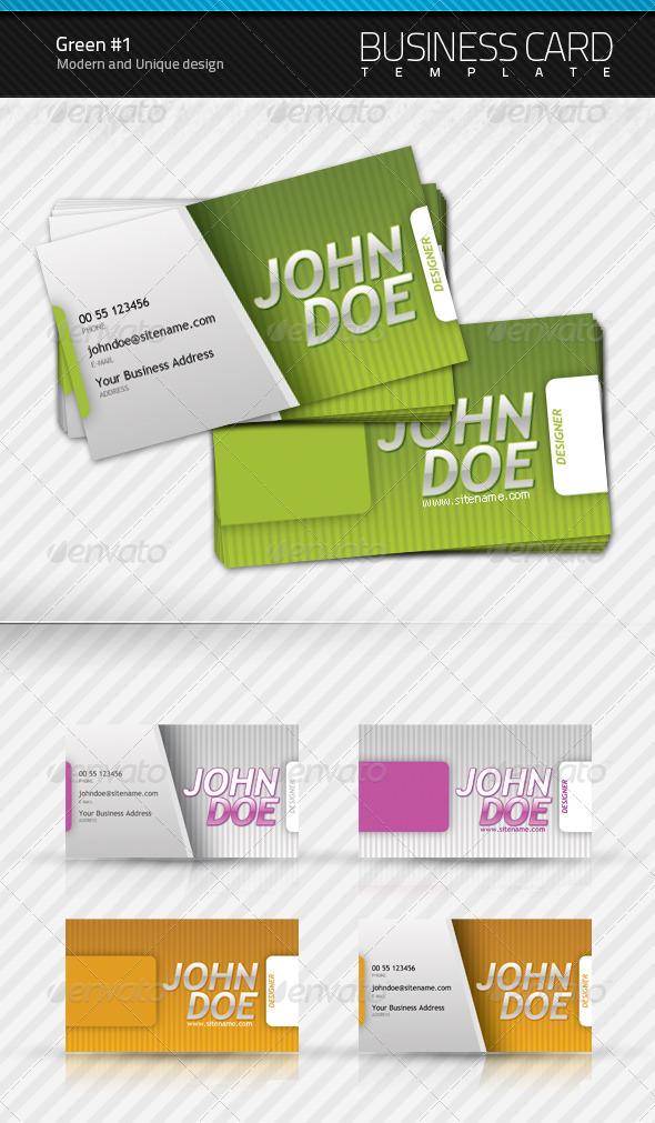 GraphicRiver Green Business Card v1.0 94092