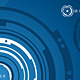 Blue concentric background - GraphicRiver Item for Sale