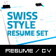 2-Piece Swiss Style Resume Set - GraphicRiver Item for Sale
