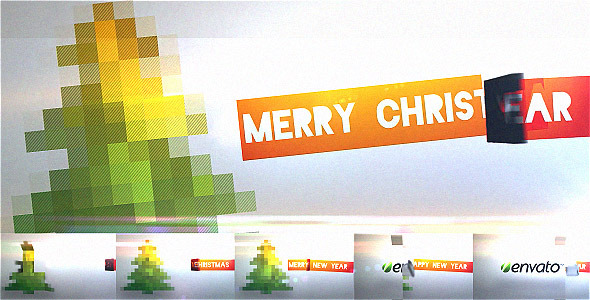 After Effects Project - VideoHive Flipping Pixel Christmas Video Greeting C ...