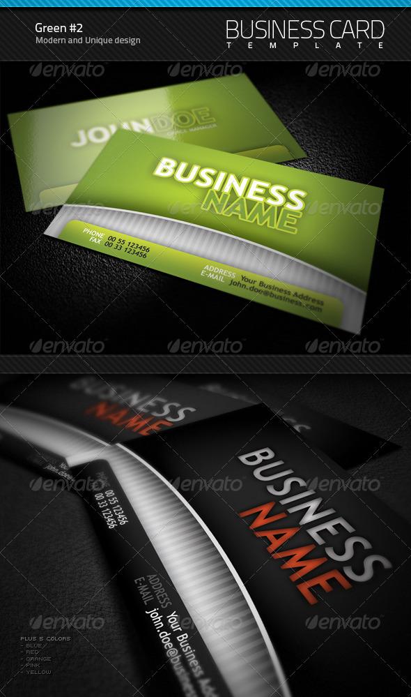 GraphicRiver Green Business Card v2.0 98098