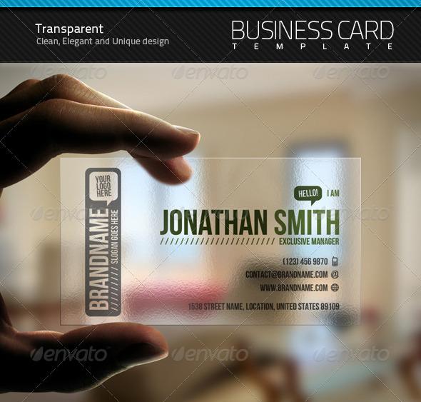 GraphicRiver Transparent Business Card 244361