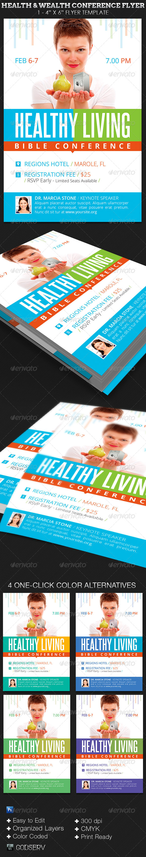 christian conference flyer template