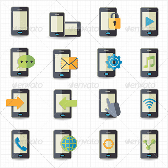 GraphicRiver Mobile Phone Icons 7612867