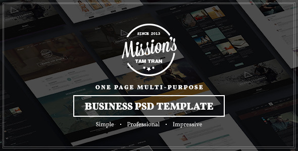 Missions | One Page Multi-Purpose PSD Template - Business Corporate