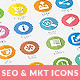 Flat SEO & Marketing Icons Pack 3