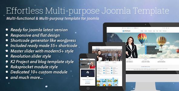 Sem esforço - Template Joomla multiuso - Business Corporate