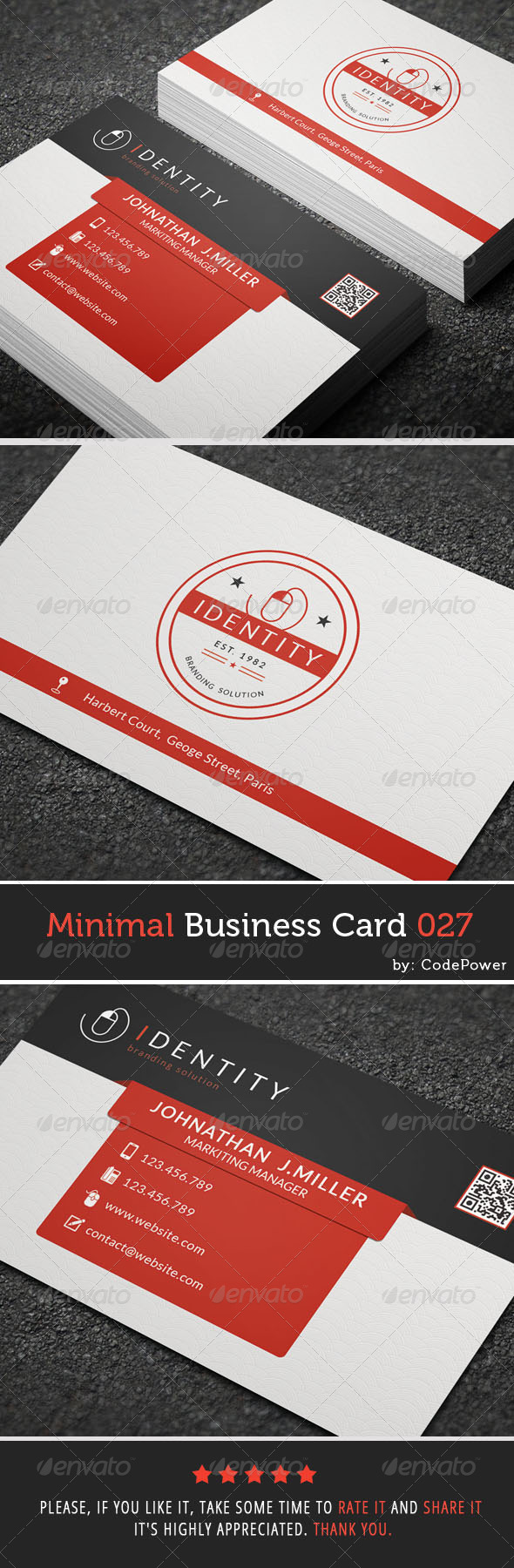 GraphicRiver Minimal Business Card 027 7665963