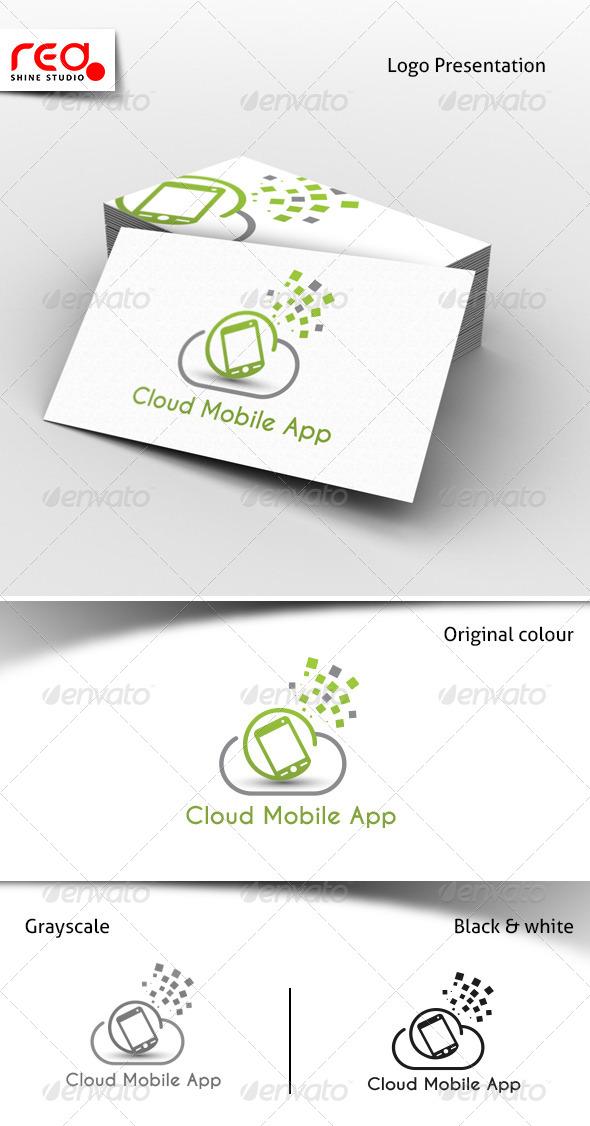 GraphicRiver Cloud Mobile App Services Logo 7671455