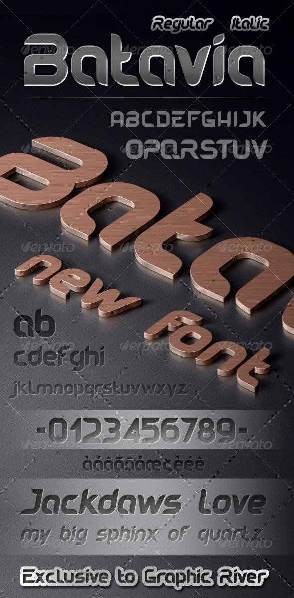 GraphicRiver Batavia Font 7675820