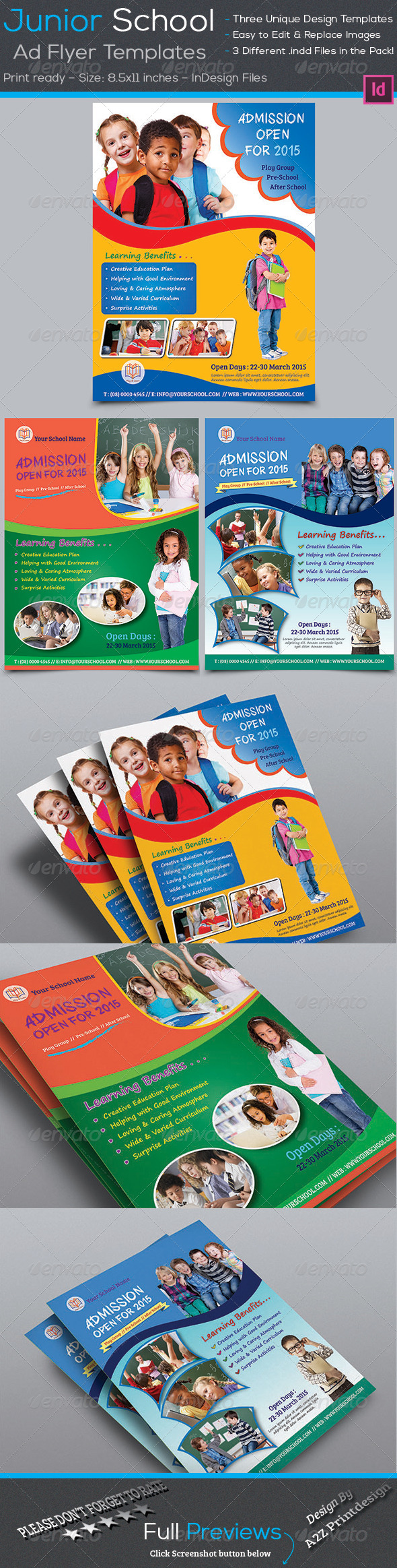 GraphicRiver Junior School Promotion Flyers 7688001