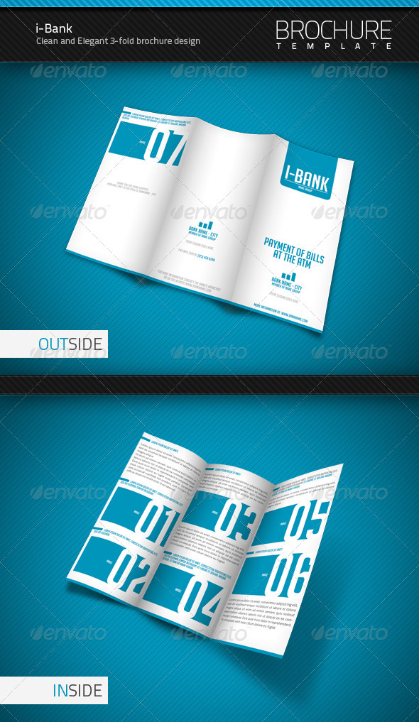 GraphicRiver i-Bank 3-Fold Brochure Template 475374