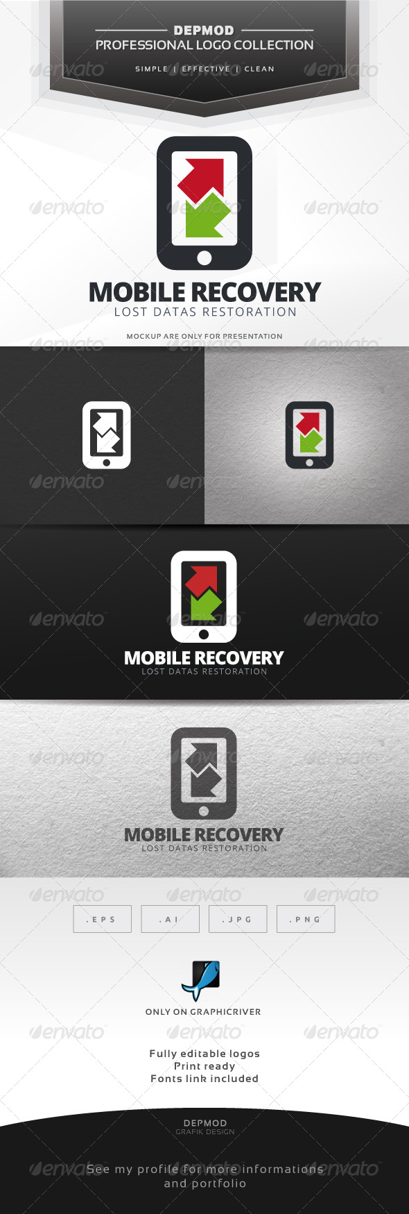 GraphicRiver Mobile Recovery Logo 7692537