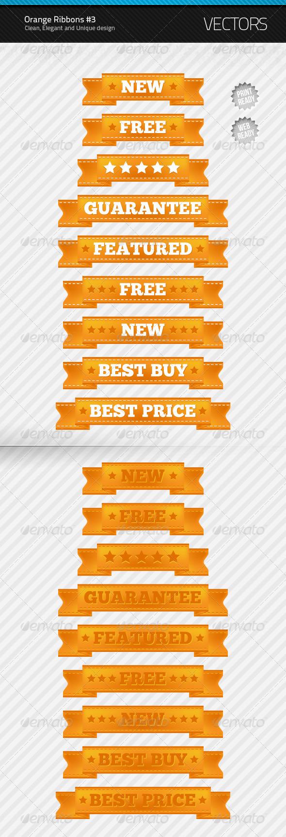 GraphicRiver Orange Ribbons #3 232377